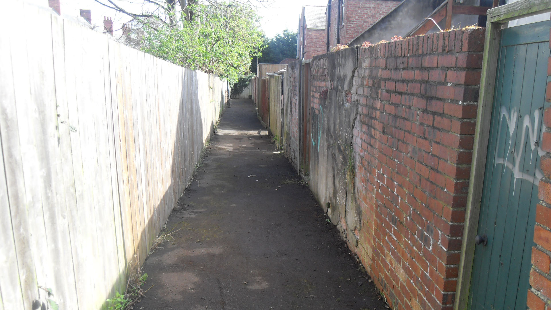 a back lane after a litter pick